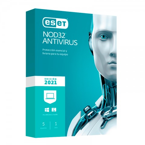 ESET ANTIVIRUS NOD 32 2021 5PC