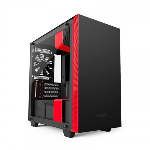 CASE NZXT MATTE BLACK/RED